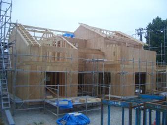 大型福祉施設 1階壁施工