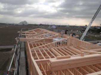 大型集合住宅 屋根施工